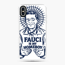 Load image into Gallery viewer, Dr Fauci Is My Homeboy iPhone XS Max Case, White Plastic Case | Webluence.com