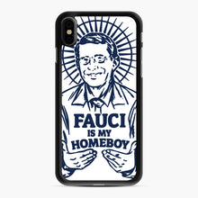 Load image into Gallery viewer, Dr Fauci Is My Homeboy iPhone XS Max Case, Black Rubber Case | Webluence.com