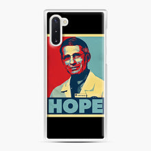 Load image into Gallery viewer, Dr. Anthony Fauci Hope Samsung Galaxy Note 10 Case, White Plastic Case | Webluence.com
