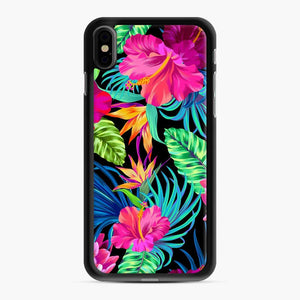 Drive You Mad Hibiscus Pattern Tropical Pattern Bird Of Paradise Aloha iPhone XS Max Case