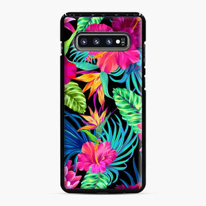 Drive You Mad Hibiscus Pattern Tropical Pattern Bird Of Paradise Aloha Samsung Galaxy S10 Plus Case