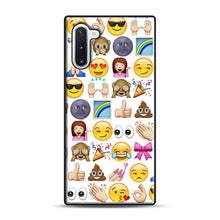 Load image into Gallery viewer, EMOJIS ARE A GALS BEST FRIEND Samsung Galaxy Note 10 Case, Black Plastic Case | Webluence.com