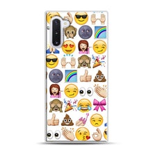 Load image into Gallery viewer, EMOJIS ARE A GALS BEST FRIEND Samsung Galaxy Note 10 Case, White Rubber Case | Webluence.com