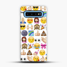 Load image into Gallery viewer, EMOJIS ARE A GALS BEST FRIEND Samsung Galaxy S10 Case, Snap Case | Webluence.com