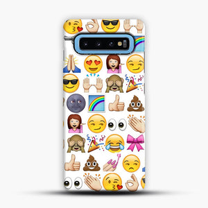 EMOJIS ARE A GALS BEST FRIEND Samsung Galaxy S10 Case, Snap Case | Webluence.com