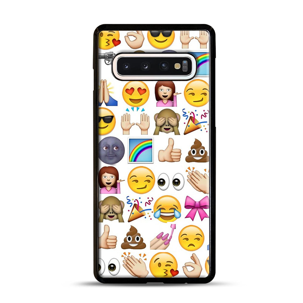 EMOJIS ARE A GALS BEST FRIEND Samsung Galaxy S10 Case, Black Plastic Case | Webluence.com