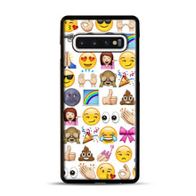 Load image into Gallery viewer, EMOJIS ARE A GALS BEST FRIEND Samsung Galaxy S10 Case, Black Rubber Case | Webluence.com
