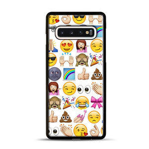EMOJIS ARE A GALS BEST FRIEND Samsung Galaxy S10 Case, Black Rubber Case | Webluence.com