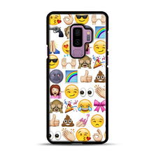 Load image into Gallery viewer, EMOJIS ARE A GALS BEST FRIEND Samsung Galaxy S9 Plus Case, Black Plastic Case | Webluence.com