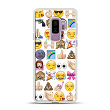 Load image into Gallery viewer, EMOJIS ARE A GALS BEST FRIEND Samsung Galaxy S9 Plus Case, White Plastic Case | Webluence.com