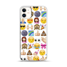 Load image into Gallery viewer, EMOJIS ARE A GALS BEST FRIEND iPhone 11 Case.jpg, White Plastic Case | Webluence.com
