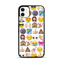 Load image into Gallery viewer, EMOJIS ARE A GALS BEST FRIEND iPhone 11 Case.jpg, Black Plastic Case | Webluence.com