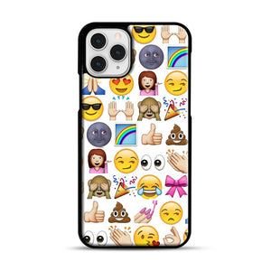 EMOJIS ARE A GALS BEST FRIEND iPhone 11 Pro Case, Black Rubber Case | Webluence.com