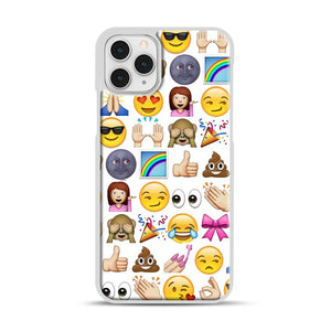 EMOJIS ARE A GALS BEST FRIEND iPhone 11 Pro Case, White Rubber Case | Webluence.com