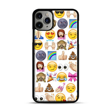 Load image into Gallery viewer, EMOJIS ARE A GALS BEST FRIEND iPhone 11 Pro Max Case.jpg, Black Plastic Case | Webluence.com