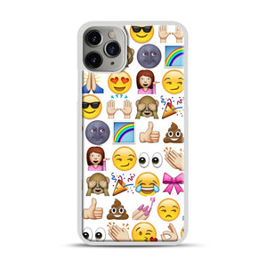 EMOJIS ARE A GALS BEST FRIEND iPhone 11 Pro Max Case.jpg, White Plastic Case | Webluence.com