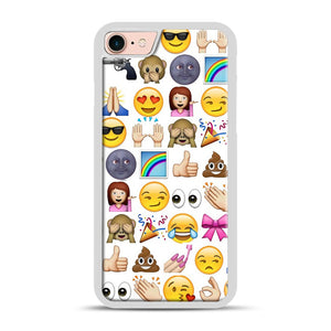 EMOJIS ARE A GALS BEST FRIEND iPhone 7/8 Case.jpg, White Rubber Case | Webluence.com