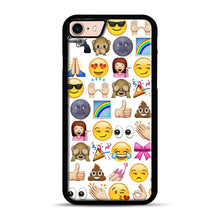 Load image into Gallery viewer, EMOJIS ARE A GALS BEST FRIEND iPhone 7/8 Case.jpg, Black Rubber Case | Webluence.com