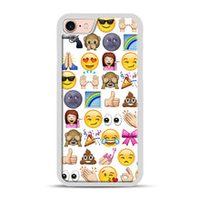 Load image into Gallery viewer, EMOJIS ARE A GALS BEST FRIEND iPhone 7/8 Case.jpg, White Plastic Case | Webluence.com