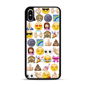 EMOJIS ARE A GALS BEST FRIEND iPhone XS Max Case, Black Rubber Case | Webluence.com