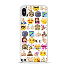 Load image into Gallery viewer, EMOJIS ARE A GALS BEST FRIEND iPhone XS Max Case, White Plastic Case | Webluence.com