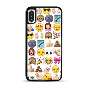 EMOJIS ARE A GALS BEST FRIEND iPhone X/XS Case, Black Rubber Case | Webluence.com