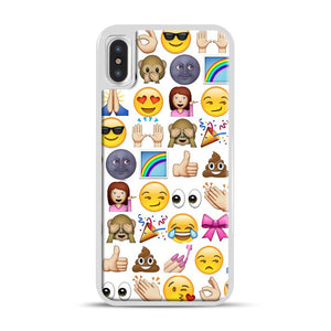 EMOJIS ARE A GALS BEST FRIEND iPhone X/XS Case, White Rubber Case | Webluence.com
