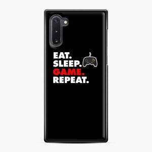 Eat Sleep Game Repeat Fortnite Samsung Galaxy Note 10 Case, Black Plastic Case