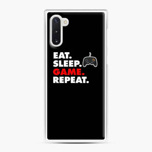 Eat Sleep Game Repeat Fortnite Samsung Galaxy Note 10 Case, White Plastic Case