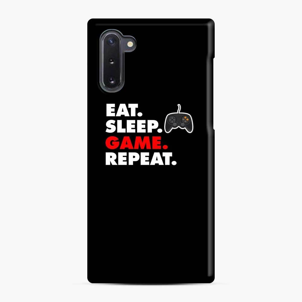 Eat Sleep Game Repeat Fortnite Samsung Galaxy Note 10 Case, Snap Case