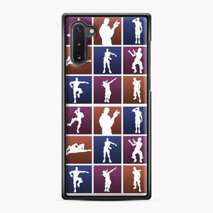Emotes For Everyone Fortnite Samsung Galaxy Note 10 Case, Black Plastic Case