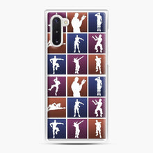 Load image into Gallery viewer, Emotes For Everyone Fortnite Samsung Galaxy Note 10 Case, White Plastic Case