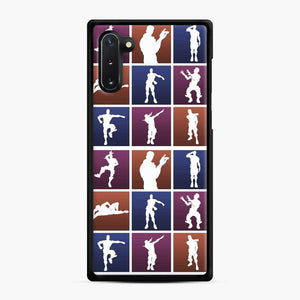 Emotes For Everyone Fortnite Samsung Galaxy Note 10 Case, Black Rubber Case