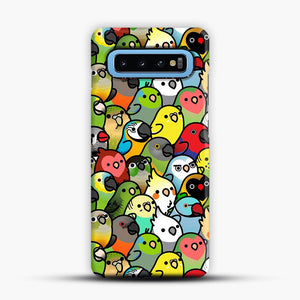 Everybirdy Pattern Samsung Galaxy S10 Case, Snap Case | Webluence.com