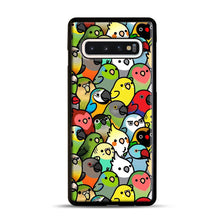 Load image into Gallery viewer, Everybirdy Pattern Samsung Galaxy S10 Case, Black Rubber Case | Webluence.com