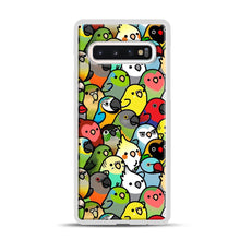 Load image into Gallery viewer, Everybirdy Pattern Samsung Galaxy S10 Case, White Plastic Case | Webluence.com