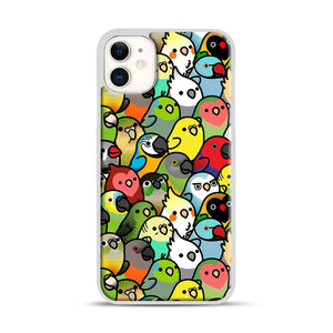 Everybirdy Pattern iPhone 11 Case.jpg, White Plastic Case | Webluence.com