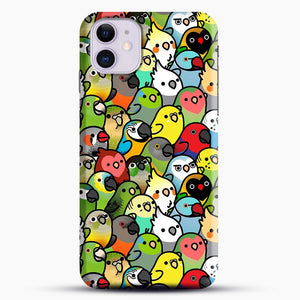 Everybirdy Pattern iPhone 11 Case.jpg, Snap Case | Webluence.com