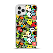 Load image into Gallery viewer, Everybirdy Pattern iPhone 11 Pro Case, White Rubber Case | Webluence.com