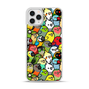 Everybirdy Pattern iPhone 11 Pro Case, White Rubber Case | Webluence.com