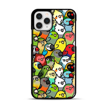 Load image into Gallery viewer, Everybirdy Pattern iPhone 11 Pro Case, Black Rubber Case | Webluence.com