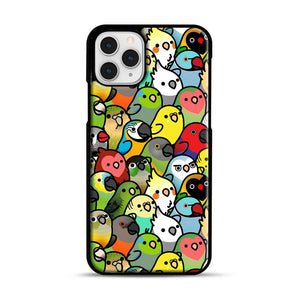 Everybirdy Pattern iPhone 11 Pro Case, Black Rubber Case | Webluence.com