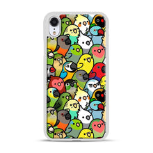Load image into Gallery viewer, Everybirdy Pattern iPhone XR Case, White Plastic Case | Webluence.com