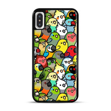 Load image into Gallery viewer, Everybirdy Pattern iPhone X/XS Case, Black Plastic Case | Webluence.com