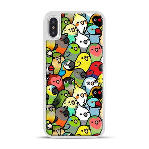 Everybirdy Pattern iPhone X/XS Case, White Rubber Case | Webluence.com