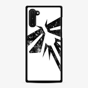 Fireflies The Last Of Us Fortnite Samsung Galaxy Note 10 Case, Black Rubber Case