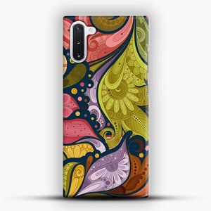 Floral Doodle Samsung Galaxy Note 10 Case, Snap Case | Webluence.com