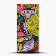 Load image into Gallery viewer, Floral Doodle Samsung Galaxy Note 9 Case, Snap Case | Webluence.com