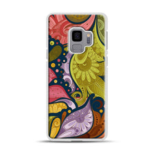 Load image into Gallery viewer, Floral Doodle Samsung Galaxy S9 Case, White Plastic Case | Webluence.com