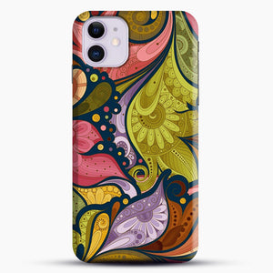 Floral Doodle iPhone 11 Case.jpg, Snap Case | Webluence.com